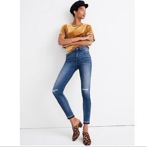 """Madewell 9"""" High Rise Rip and Repair Skinny Jeans"""